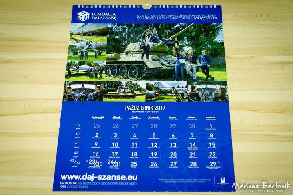 Daj Szansę Foundation 2017 calendar